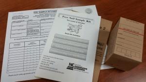 An example soil sampling kit.